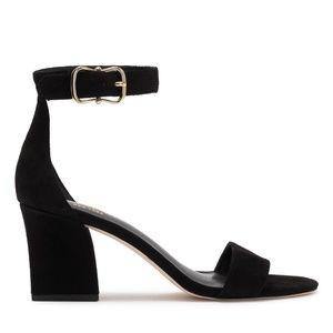 Kate Spade Size 11 Black Suede Ankle Strap Sandals